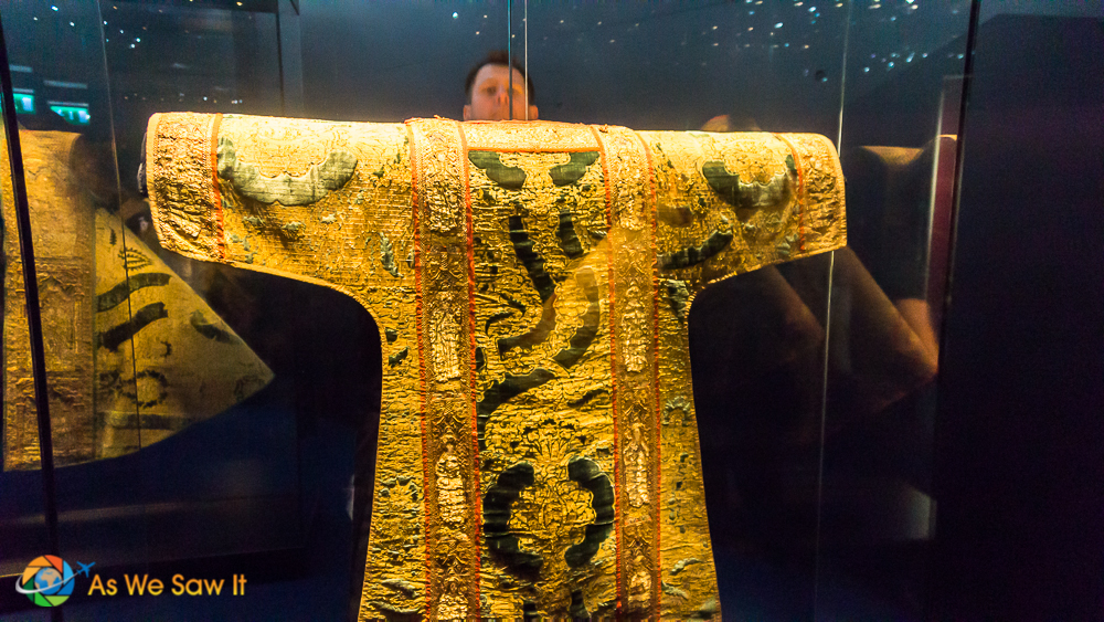 Priest cloak made out of gold thread.