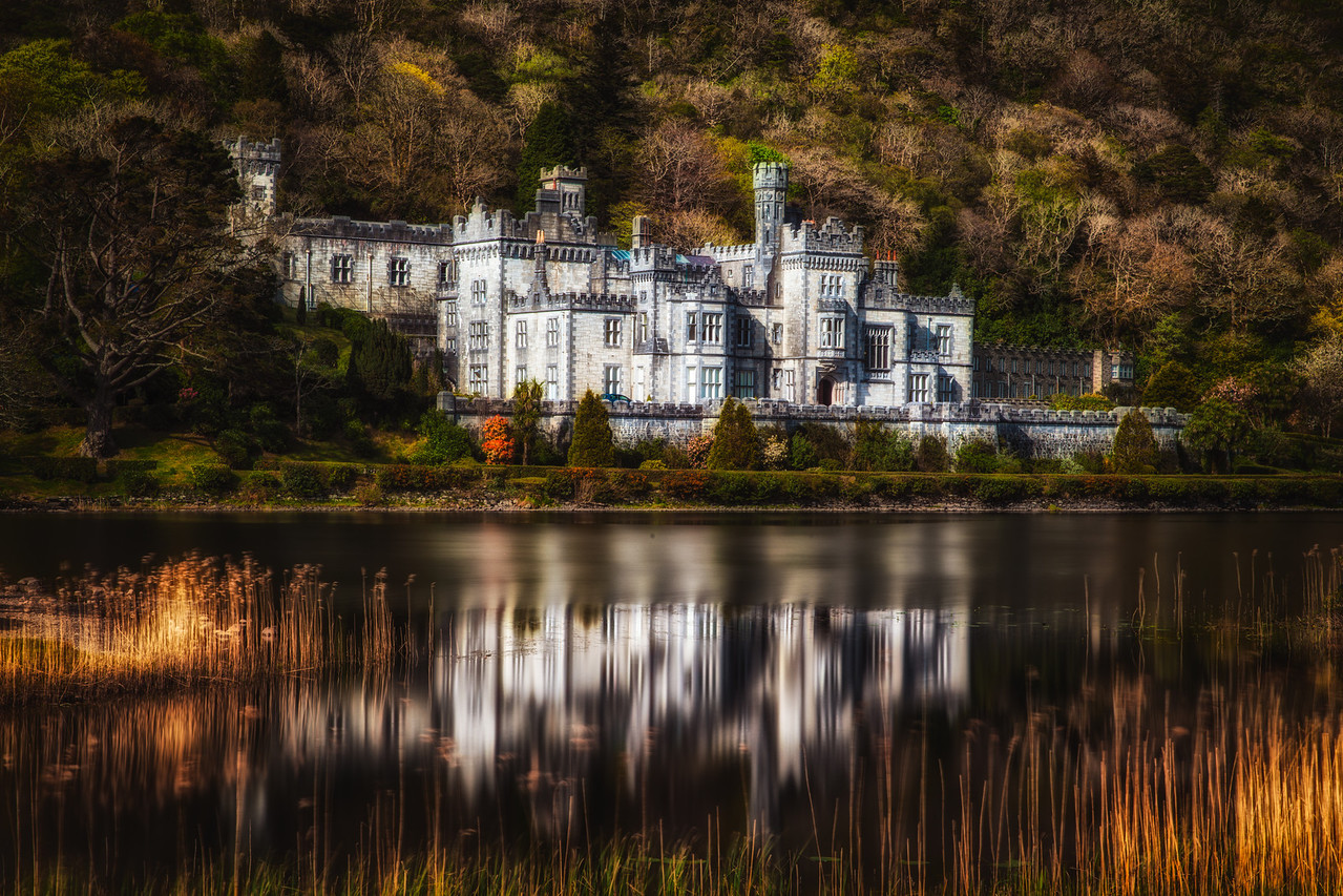 You cannot miss the Kylemore Abbey.