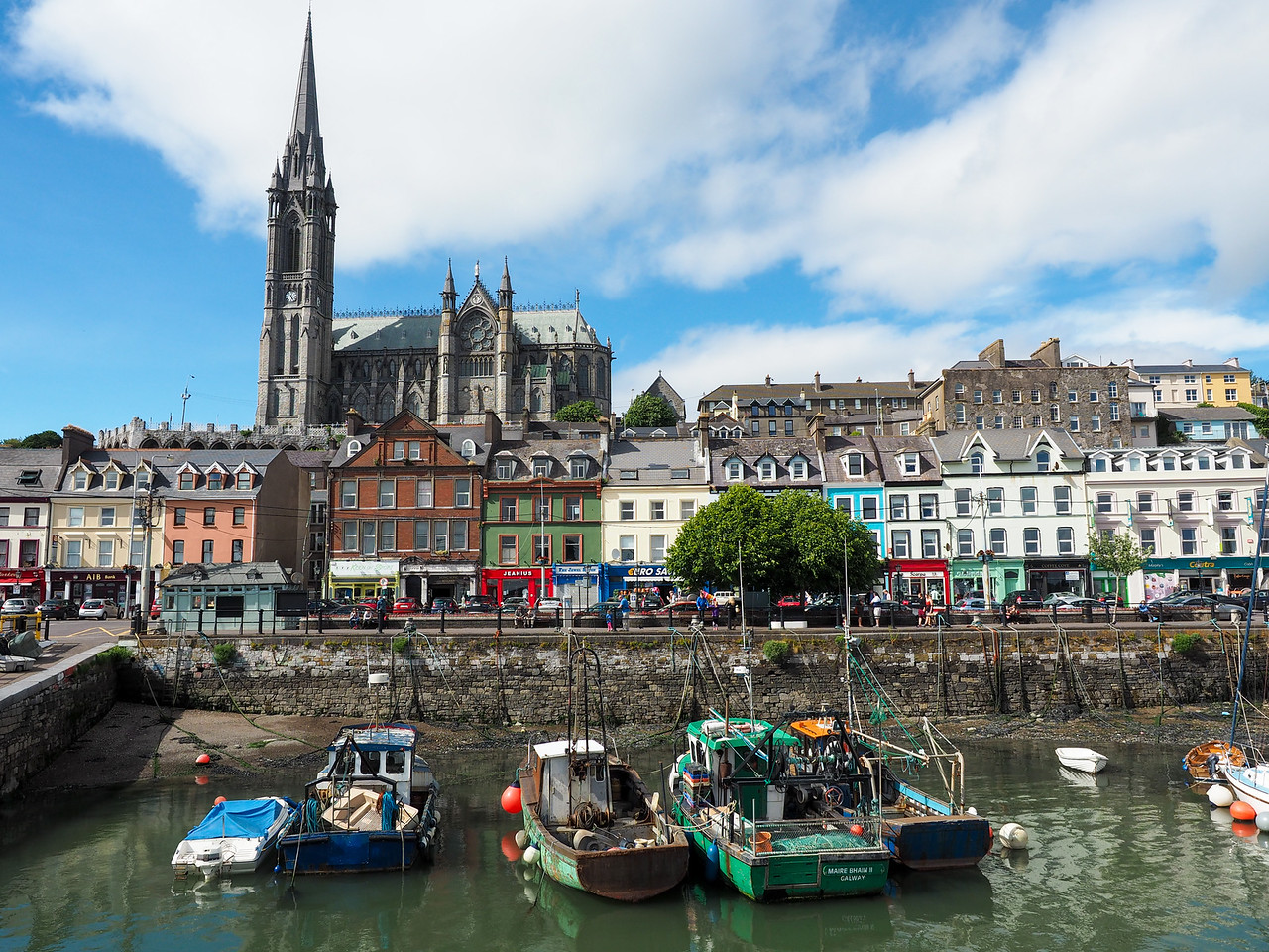 Cobh, Ireland fishing harbor