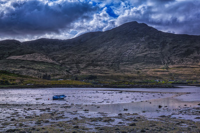 A Fisherman empties his boat along the Wild Atlantic Way in Ireland