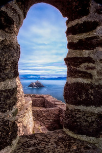 The famous Window View from Skellig Michael, Ireland
