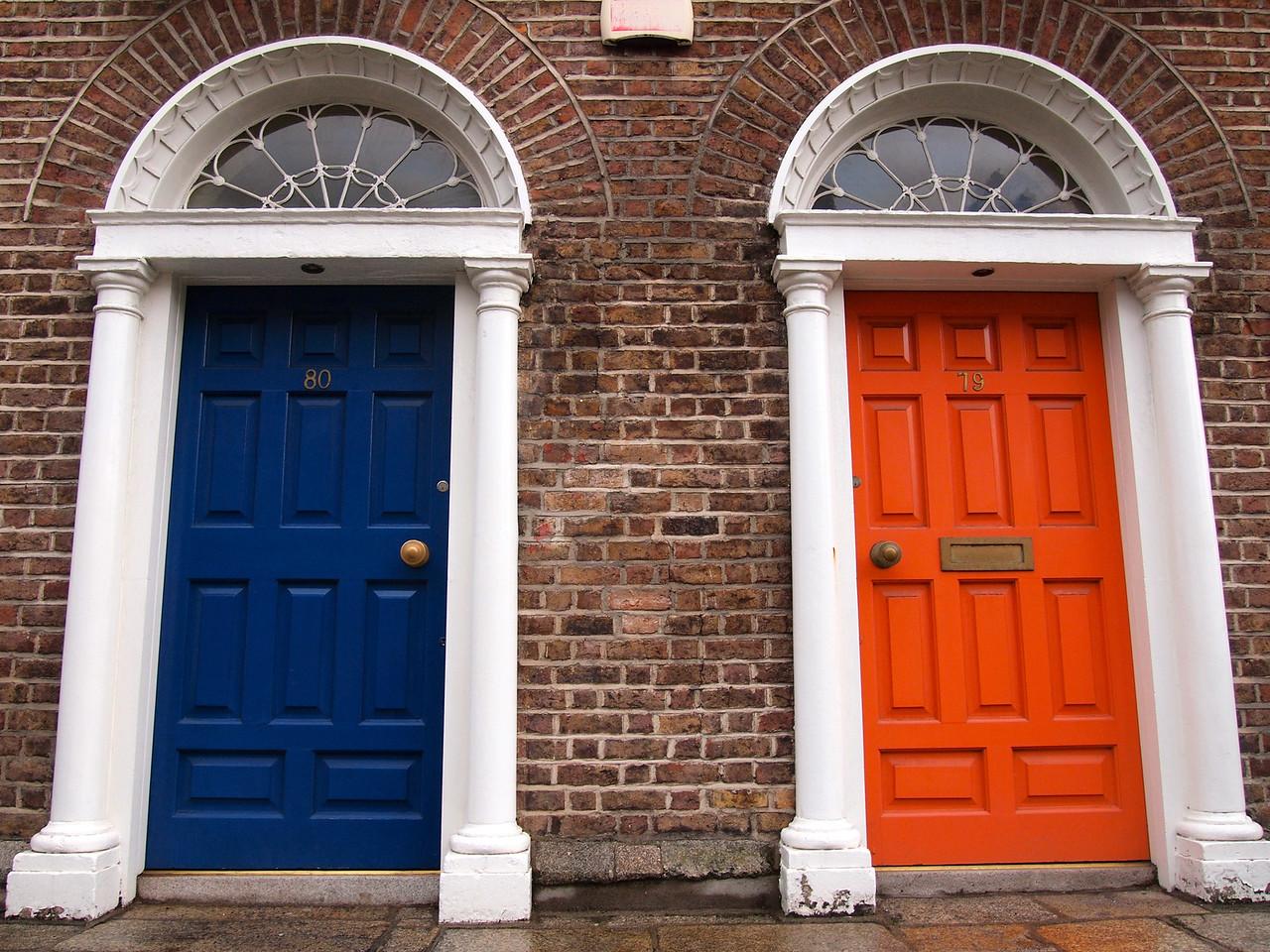 Colorful doors in Dublin