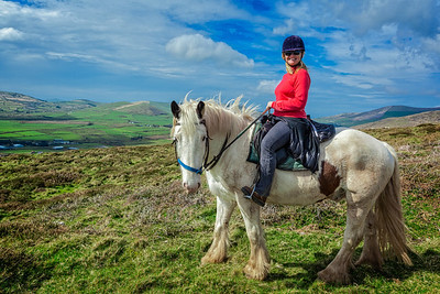 Horseback Riding on the Dingle Peninsula on the Wild Atlantic Way.