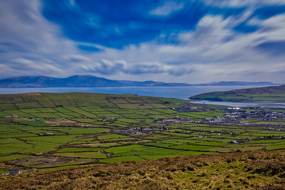 A Green view across the Dingle Peninsula.