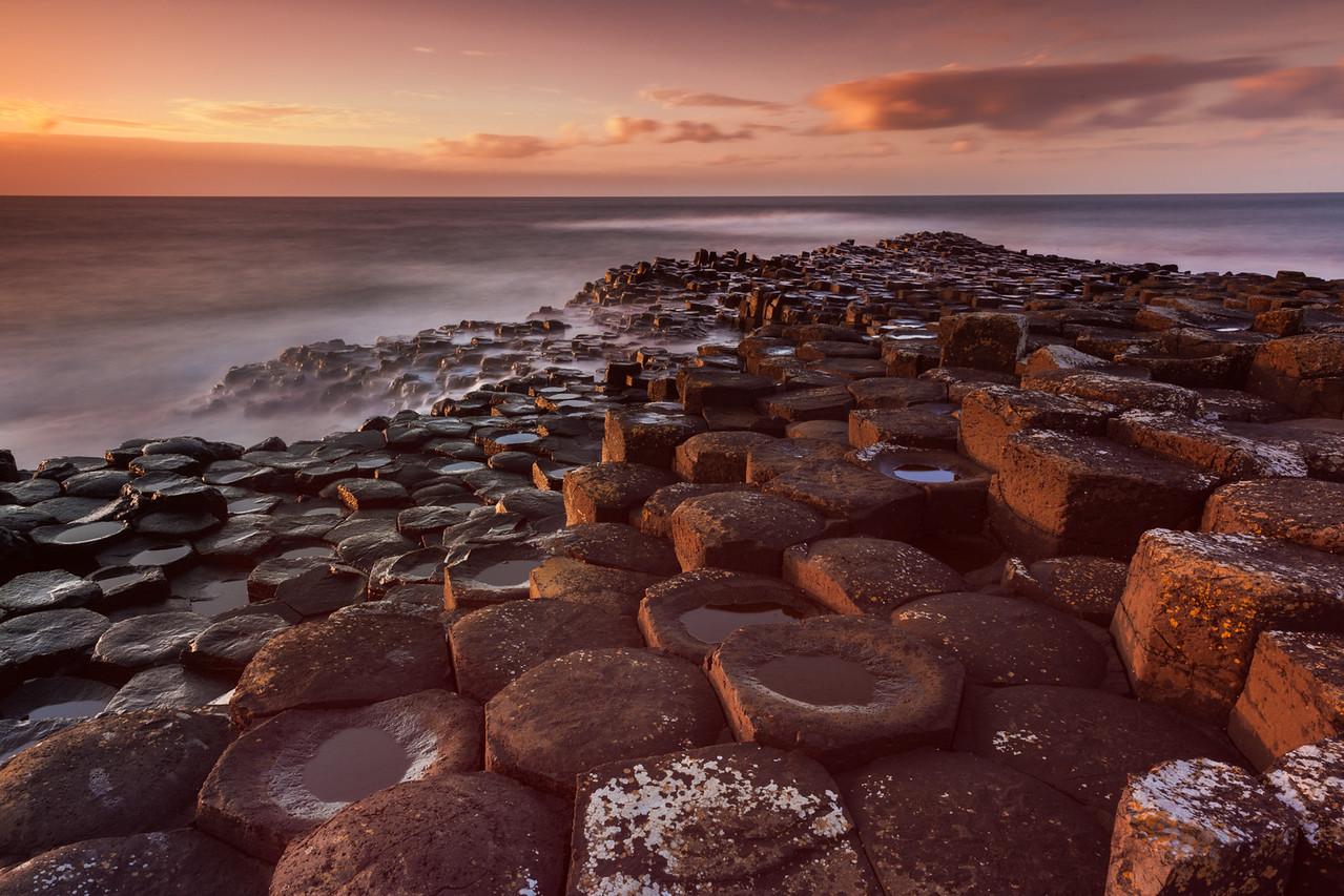 The Giants Causeway in Ireland