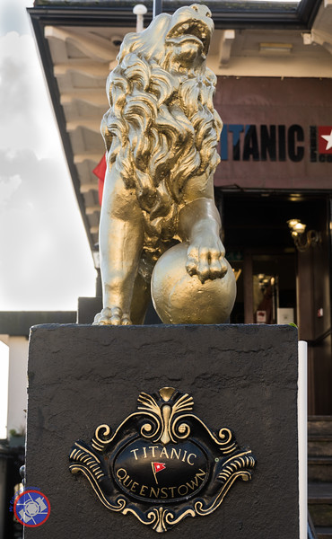 Lion Guarding the Entrance to the Titanic Experience in Cobh (©simon@myeclecticimages.com)