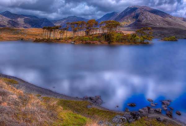Reflections of the Twelve Bens in Connemara, Ireland