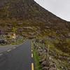 Heading through the Conor Pass, Ireland's highest mountain pass