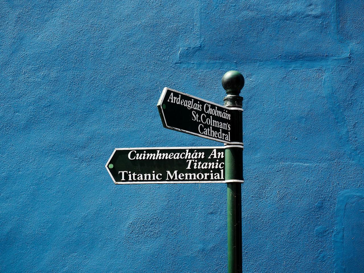 Cobh street sign