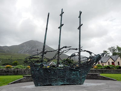 Famine Memorial in County Mayo, Ireland