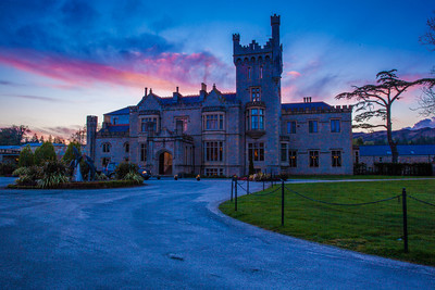 The beautiful Lough Eske Castle at Sunset.