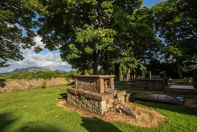 broken crypt St Columba's churchyard