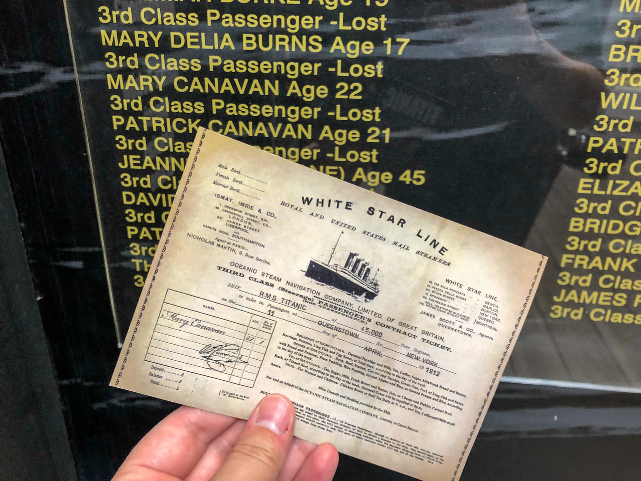 Titanic Experience ticket