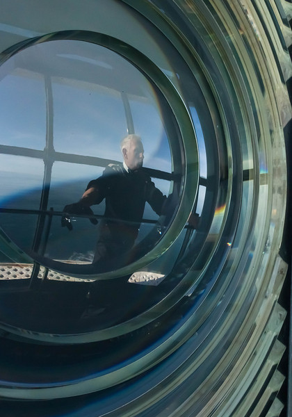 Our Lightkeeper, Gerald, through the Lens