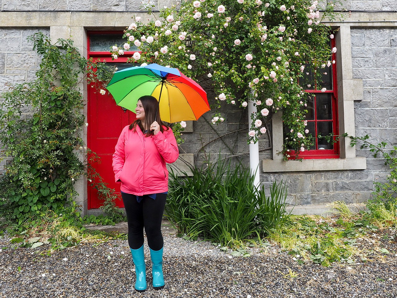 Amanda in the rain in Ireland