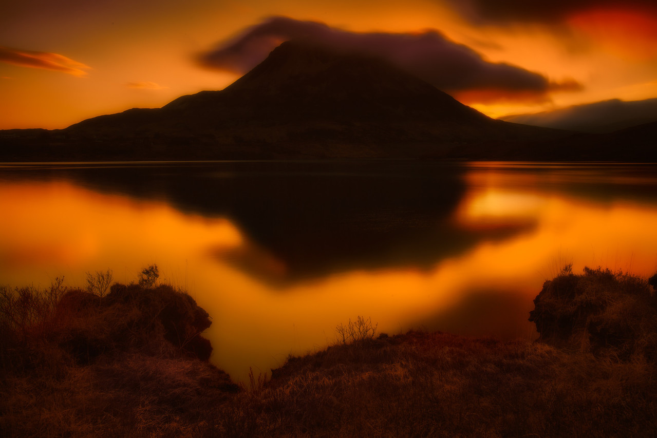 Mount Errigal at Sunrise in Donegal, Ireland