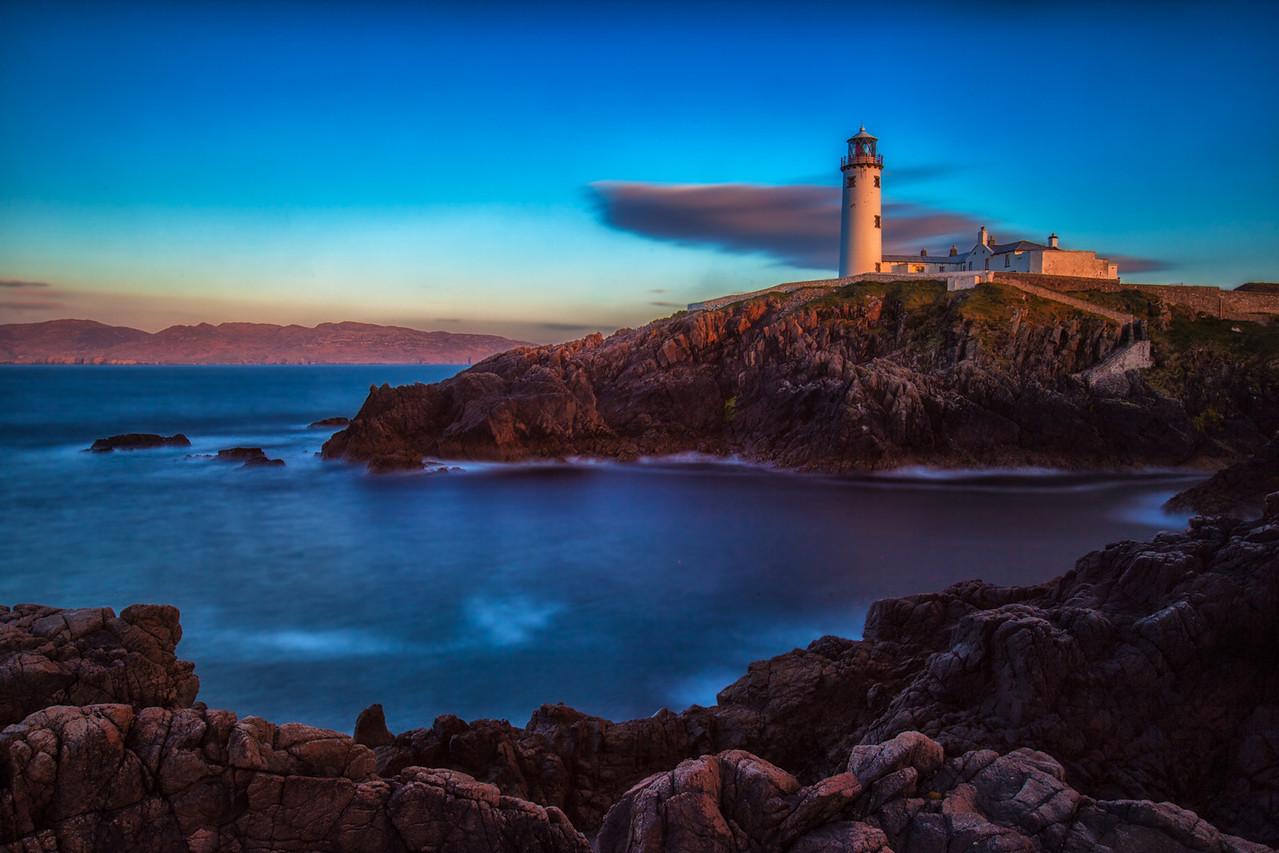 Sunset at Fanad Head Lighthouse on the Wild Atlantic Way