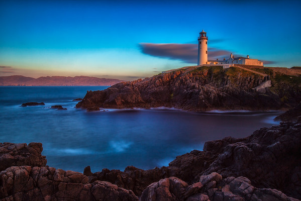 Sunset at the Fanad Head Lighthouse on the Wild Atlantic Way