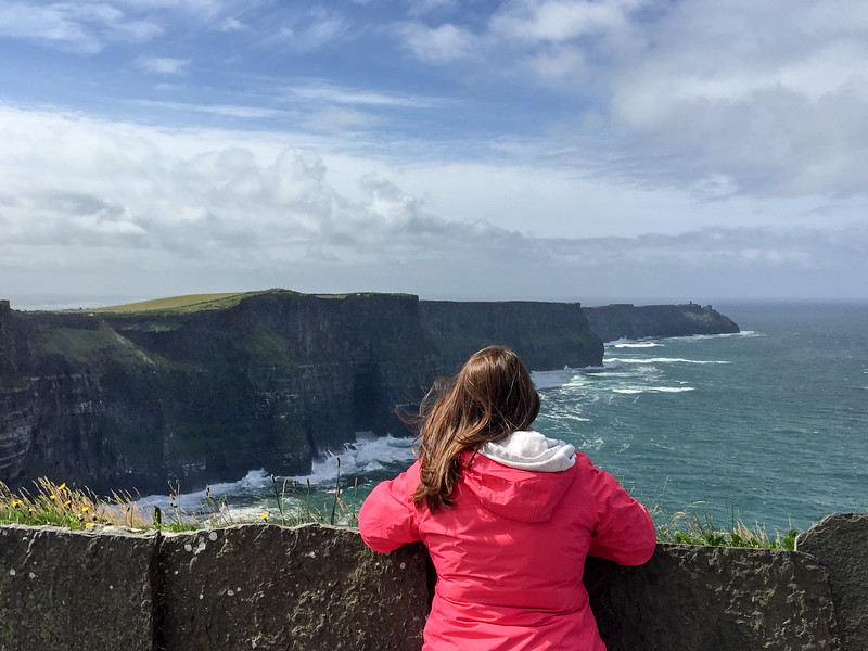 Amanda at the Cliffs of Moher
