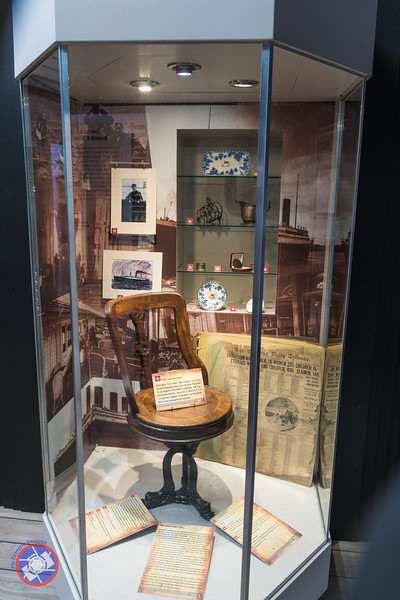 Display of Artifacts Relating to the Titanic Including an Original Chair from the Carpathia (©simon@myeclecticimages.com)