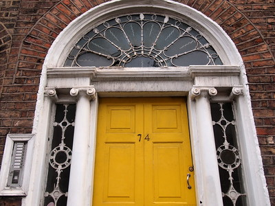 Georgian door in Merrion Square