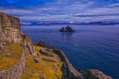 The view from Skellig Michael in Ireland