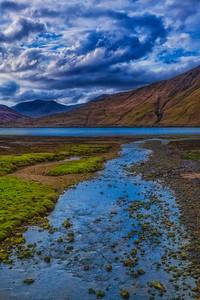 Looking back at Killary Fjord from Glennagevlaugh in Ireland