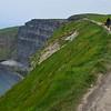 Walking along the cliffs...no railings!