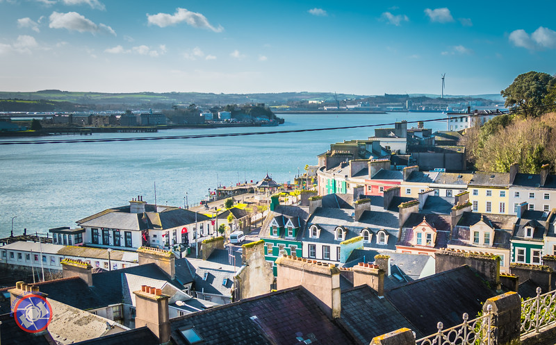 View of the Town of Cobh with the White Star Building Housing the Titanic Experience on the Waterfront (©simon@myeclecticimages.com)