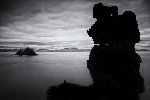 A Monochome view from Skellig Michael, Ireland