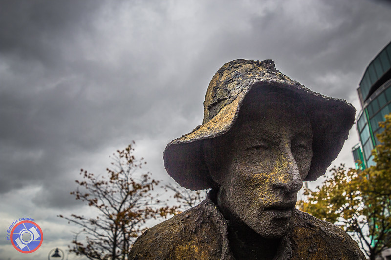 One of the Bronze Statues in the Famine Memorial in Dublin Reminding Us of the Mass Exodus from Ireland During the Potatoe Famine (©simon@myeclecticimages.com)