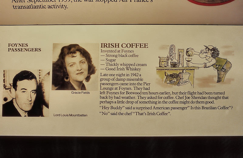 Foynes - Musée des Hydravions - Le secret de l'irish coffee - Faing