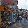 Shops along the main road in Ischia Ponte - more limoncello!