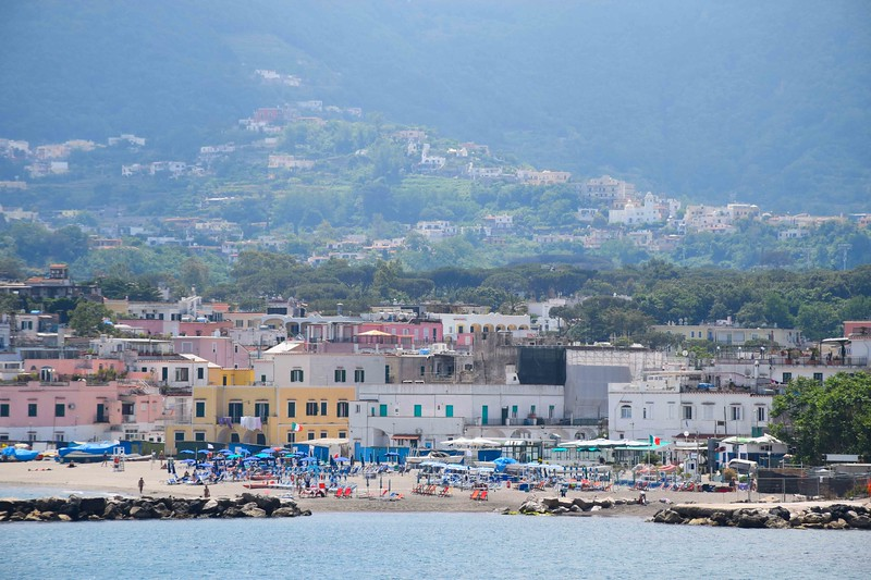 First views of Ischia from the ferry