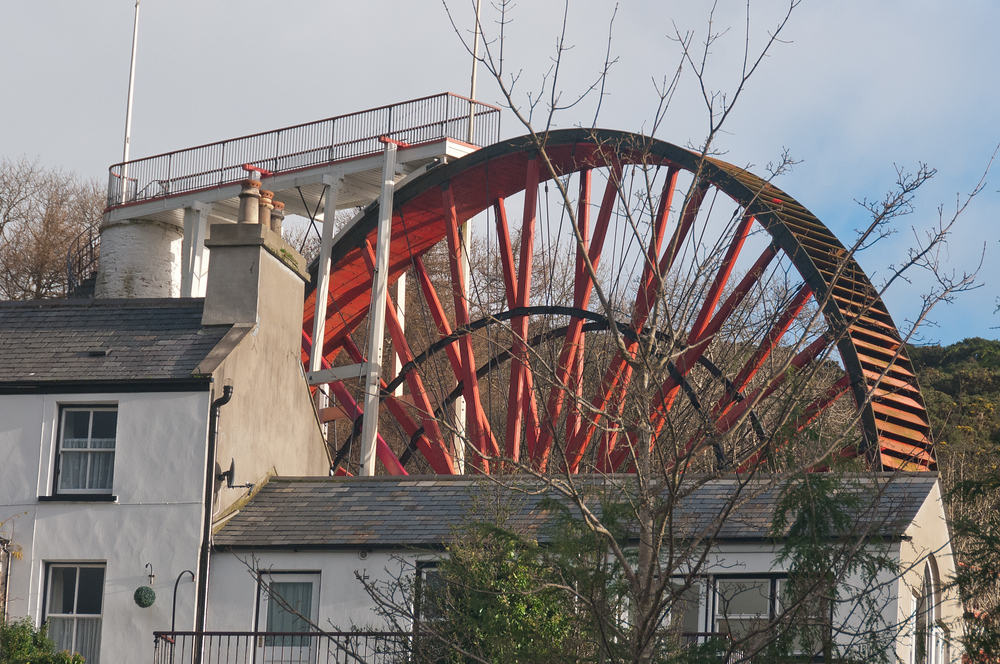 The Great Laxey Wheel on the Isle of Man
