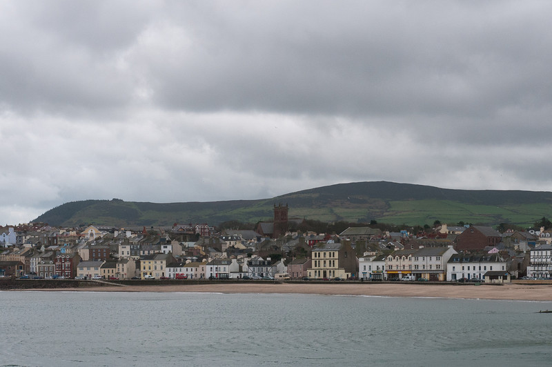 View of skyline along the beach in Isle of Man