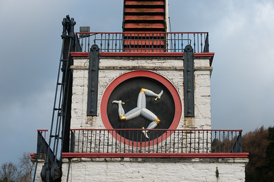 The Isle of Man national icon at Laxey Wheel - Isle of Man