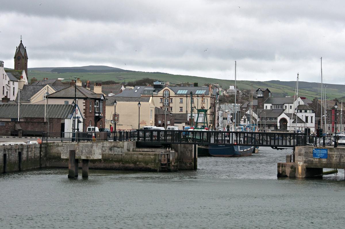 The Village of Peel on the Isle of Man