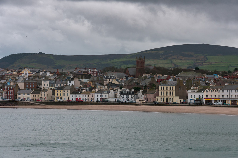 Wide shot of skyline near the beach - Isle of Man