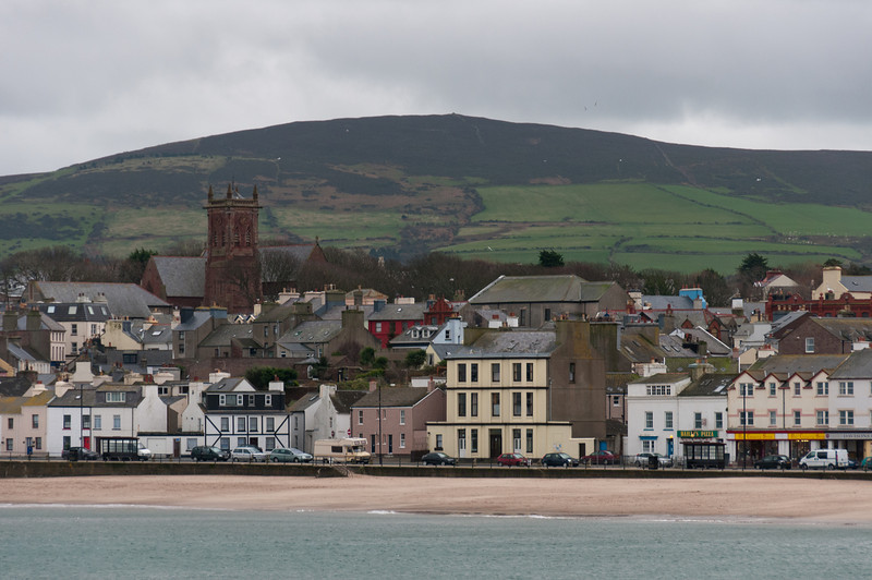 Row of buildings near the beach in Isle of Man