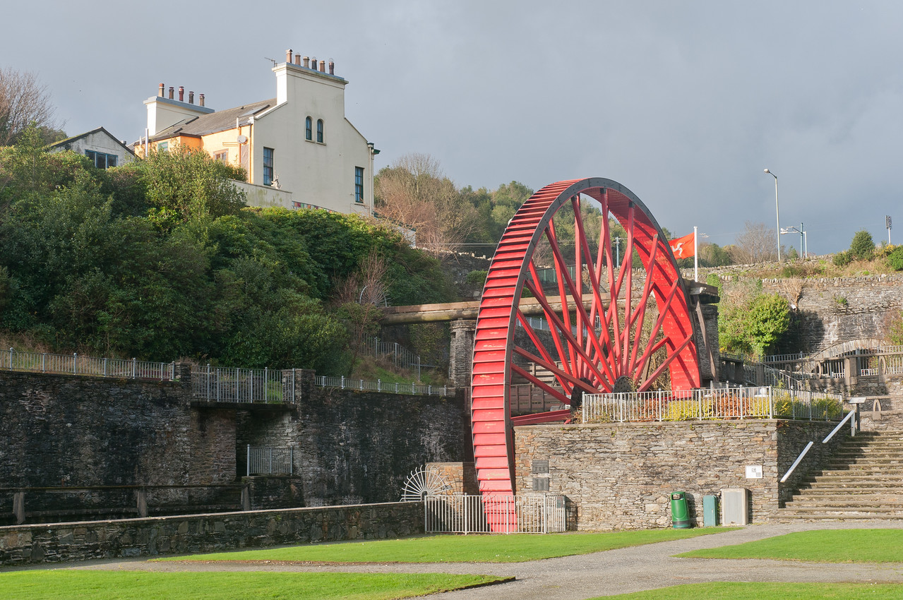 Snaefell Wheel in Laxey, Isle of Man