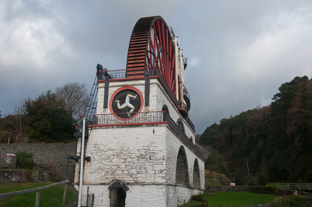 The Laxey Wheel in the Isle of Man