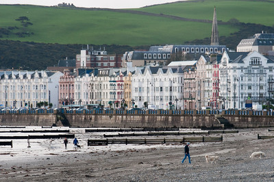 View of the shore during low tide - Isle of Man