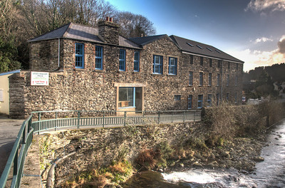 The Woollen Mills facade in Laxey, Isle of Man