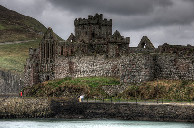 Peel Castle at the Isle of Man