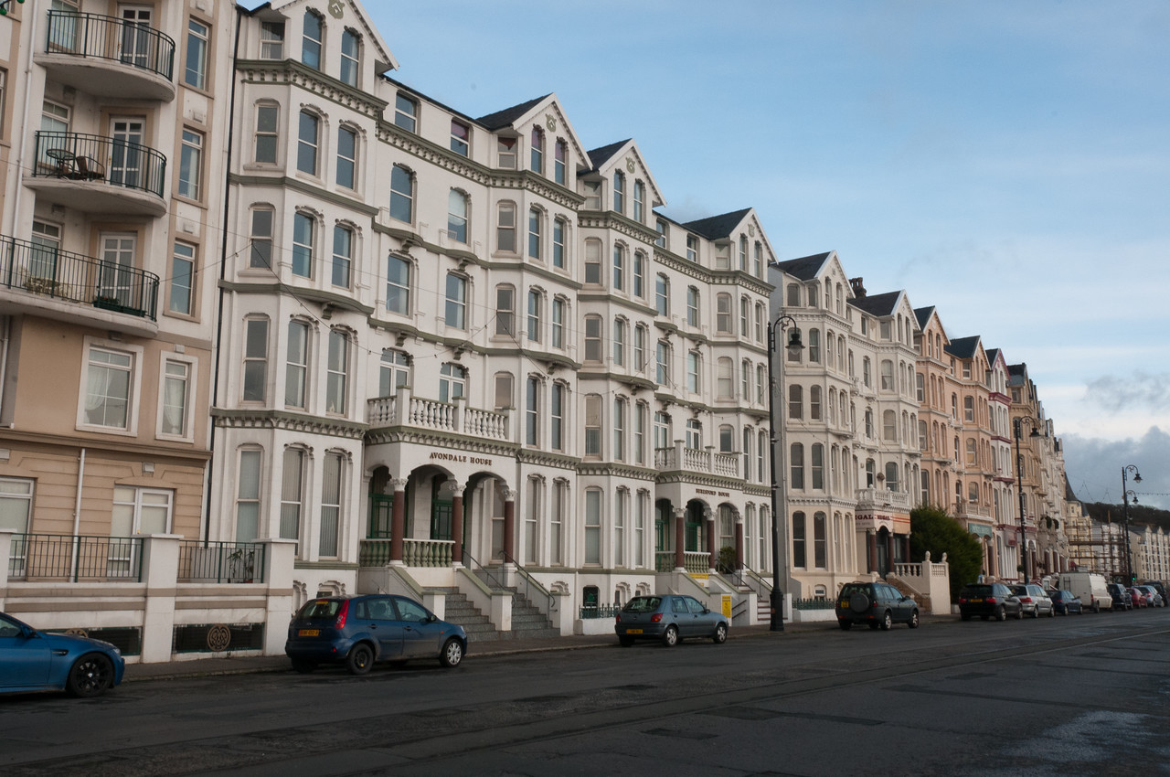 Row of apartment-type buildings in Isle of Man