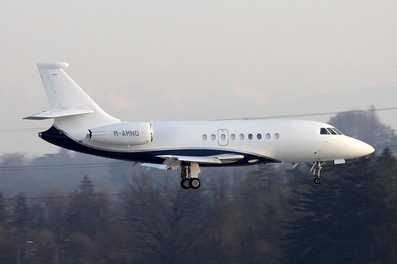 M-AMND Dassault Falcon 200EX Easy c/n 114 Geneva/LSGG/GVA 18-01-12