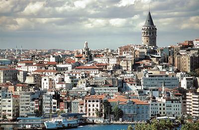 Quartier de Beyoğlu et tour de Galata