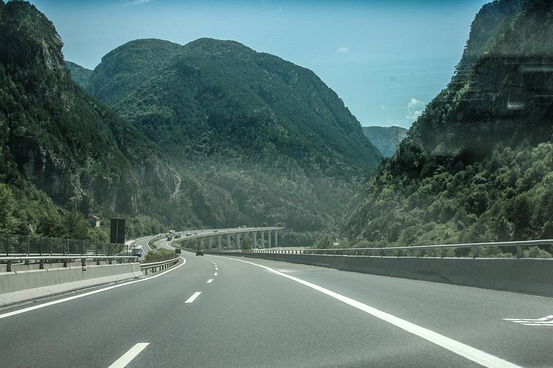 Entering Italy from Austria