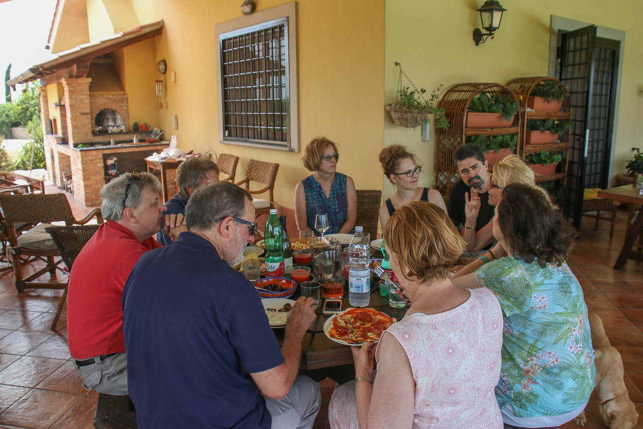 Pizza Lunch at Home of Wendy & Maurizio